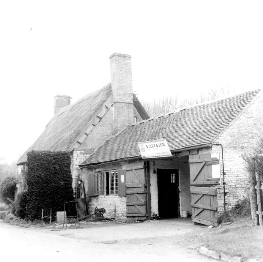 Lighthorne forge and adjoining cottage, B. Cole and Son.  1975 |  IMAGE LOCATION: (Warwickshire Museums. Photographic Collections.)