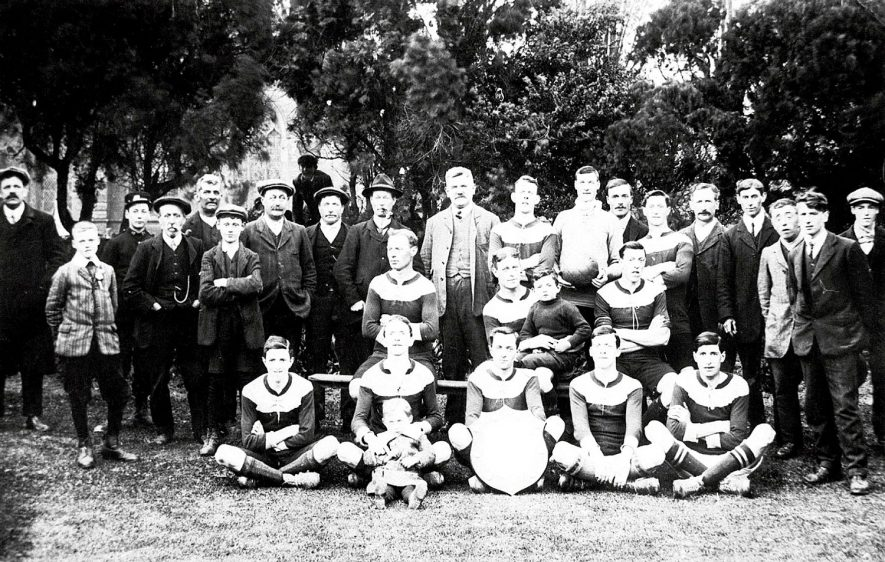 Kineton Albion football team, winners of the Foster Shield.  1912/13 |  IMAGE LOCATION: (Warwickshire Museums. Photographic Collections.)