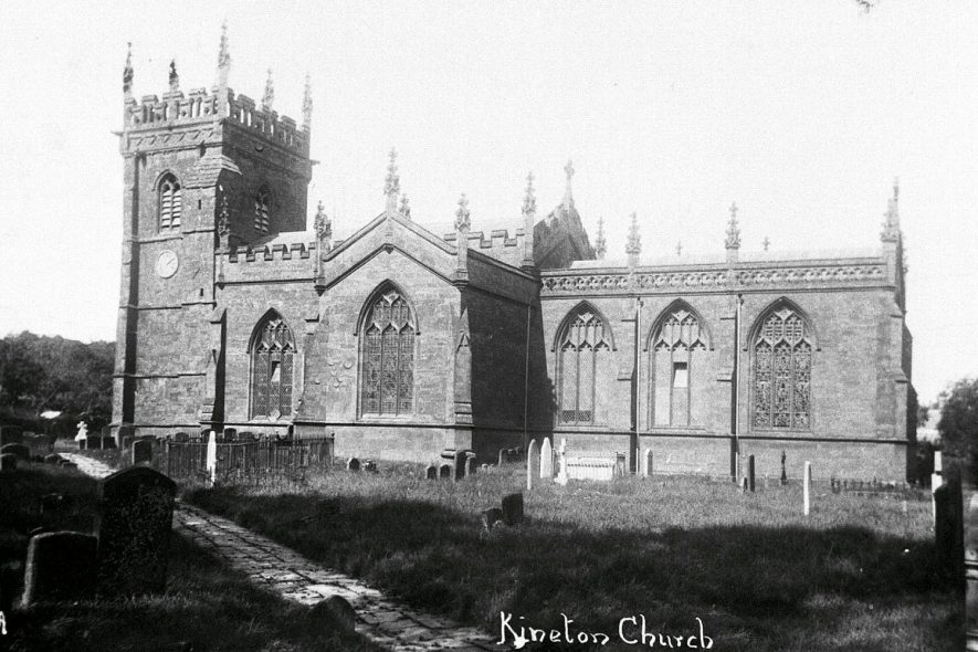 Exterior of St Peter's church, Kineton.  1910s |  IMAGE LOCATION: (Warwickshire Museums. Photographic Collections.)