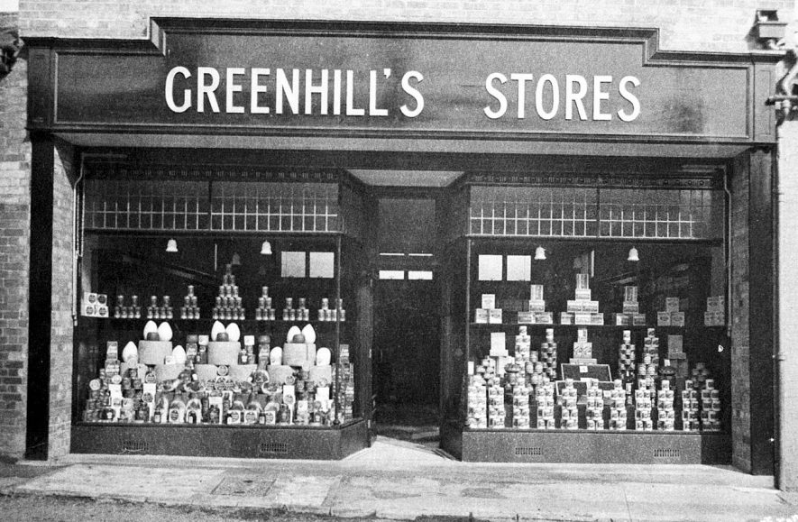 Greenhill's grocery and provision stores, Banbury Street, Kineton.  1929 |  IMAGE LOCATION: (Warwickshire Museums. Photographic Collections.)