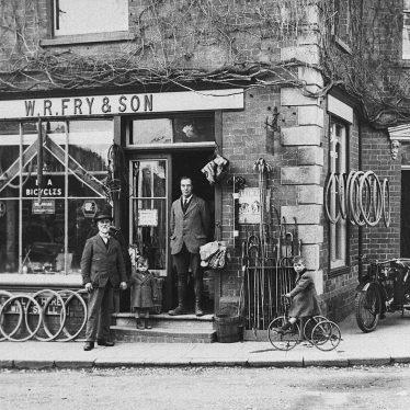 Shipston on Stour.  W.R. Fry & Son shop front