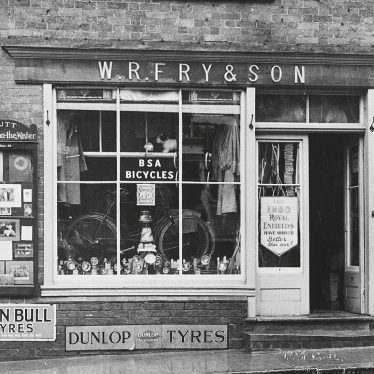 Shipston on Stour.  W.R. Fry's shop