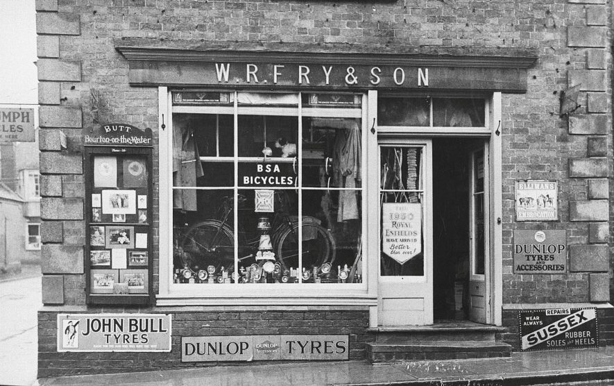 W.R. Fry's shop, front window, Shipston on Stour.  1930s |  IMAGE LOCATION: (Warwickshire Museums. Photographic Collections.)
