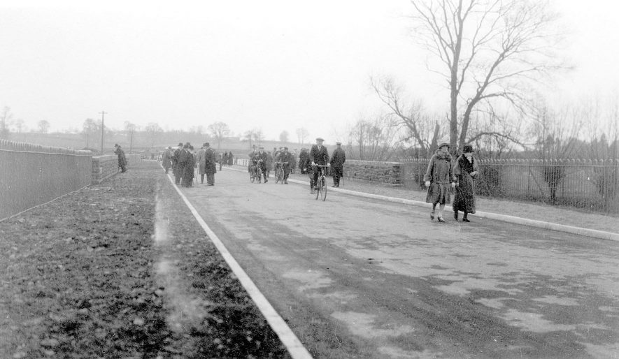 Opening of bridge on A46, Clifford Chambers.  1930s |  IMAGE LOCATION: (Warwickshire Museums. Photographic Collections.)