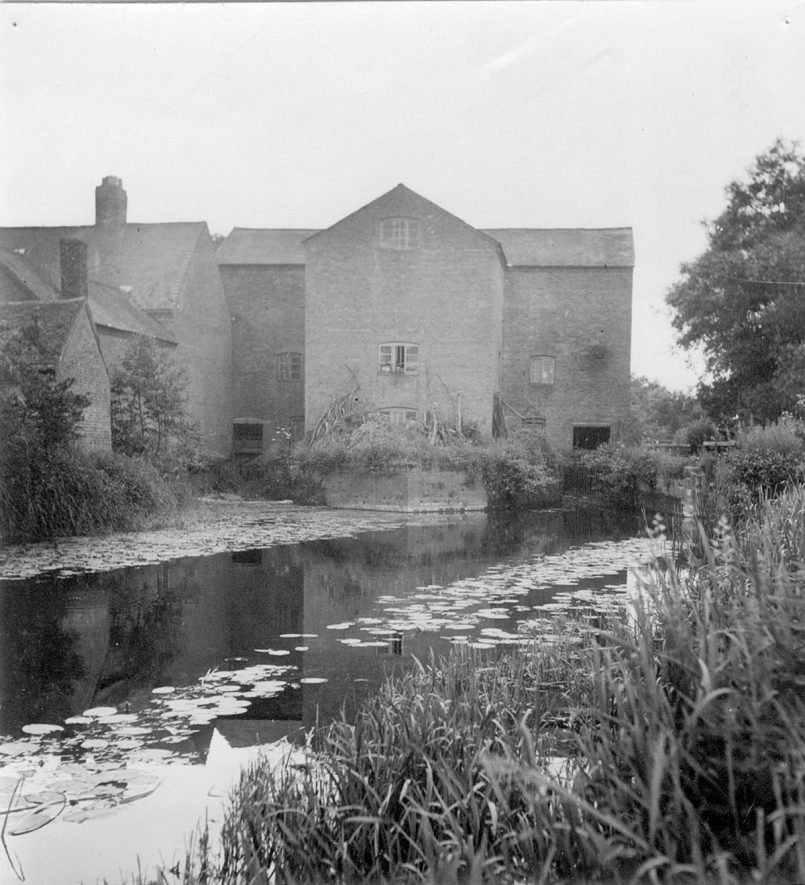 Charlecote water mill, rear elevation.  Photograph taken by G. Barrowclough Esq., Rugby School.  1930s |  IMAGE LOCATION: (Warwickshire Museums. Photographic Collections.)