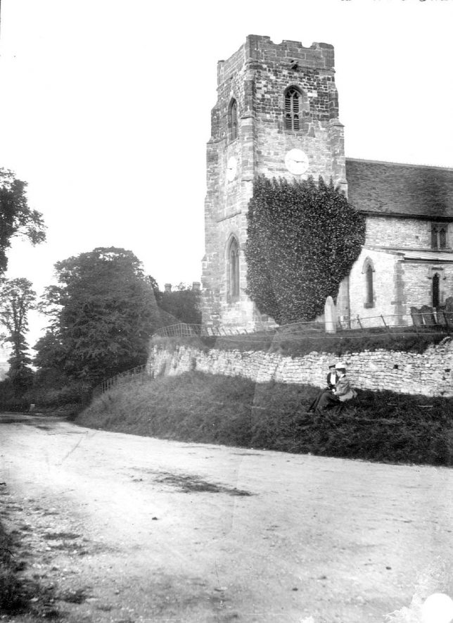 Exterior of St Michael's church, Ufton.  1900s |  IMAGE LOCATION: (Warwickshire Museums. Photographic Collections.)