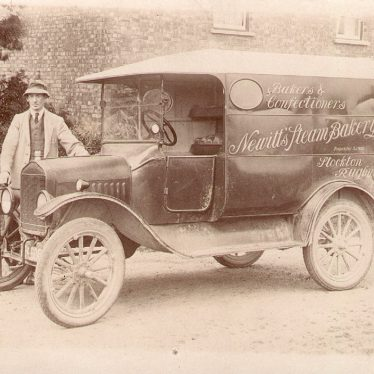 Stockton.  Newitt's steam bakery van
