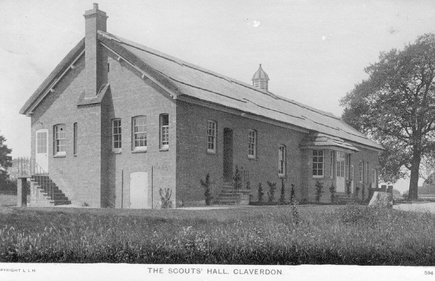 The Scouts Hall, Claverdon.  Postmark 1916 |  IMAGE LOCATION: (Warwickshire County Record Office)