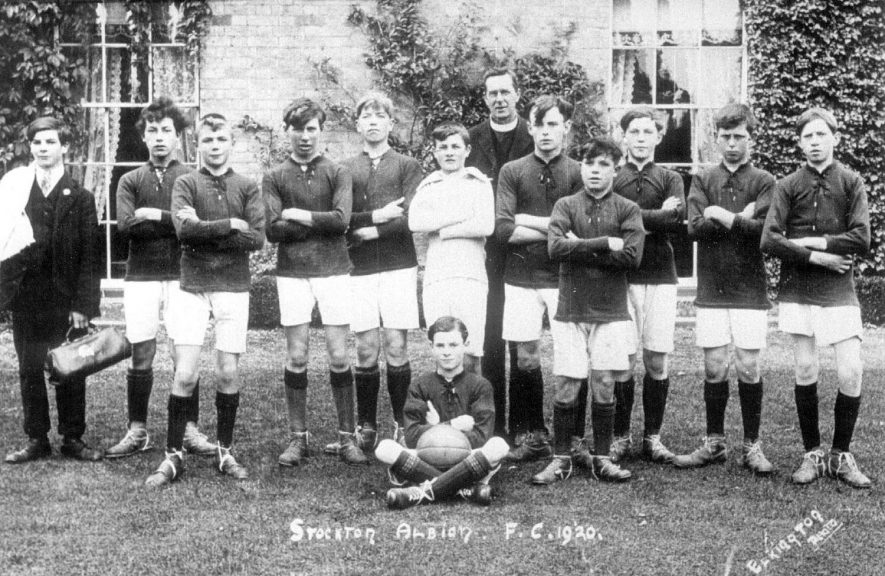 Stockton Albion football club team.  1920    IMAGE LOCATION: (Warwickshire Museums. Photographic Collections.)