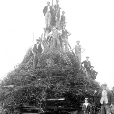Stockton.  Coronation bonfire