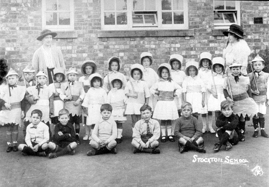 Group of children in fancy dress at Stockton school.  1930s |  IMAGE LOCATION: (Warwickshire Museums. Photographic Collections.)