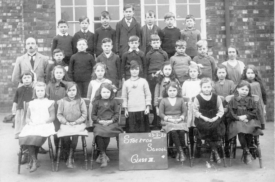 Stockton school group, class III.  February 23rd 1923 |  IMAGE LOCATION: (Warwickshire Museums. Photographic Collections.)