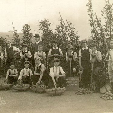 Stockton.  Council school gardening class