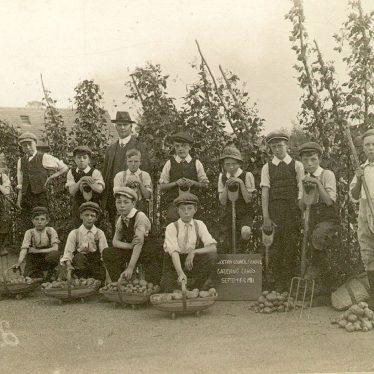 Stockton.  Council school gardening class