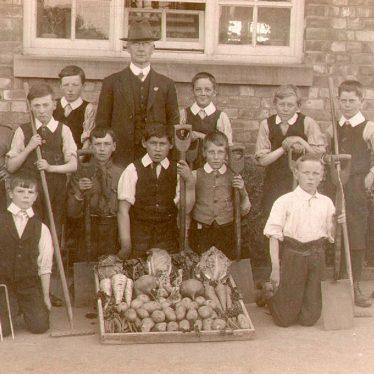 Stockton.  School gardening class