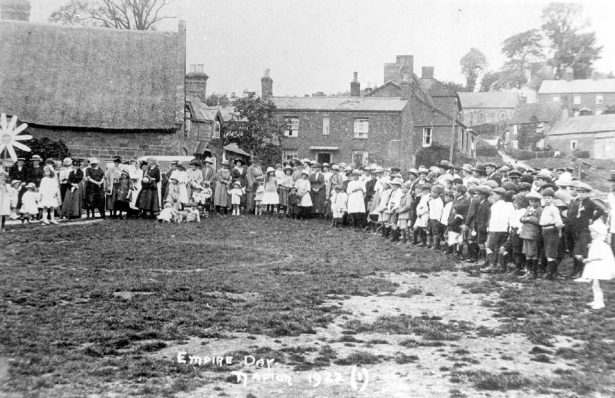A gathering of people in Napton on the Hill celebrating Empire Day.  1922 |  IMAGE LOCATION: (Warwickshire Museums. Photographic Collections.)