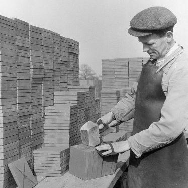 Napton on the Hill.  Sorting tiles from the Kilns