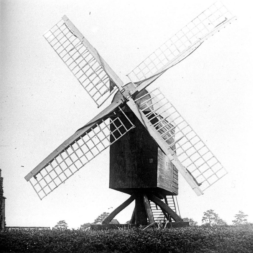 The Post Mill which stood on Mill Hill, above Fenny Compton.