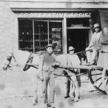 Harbury.  Co-operative shop and delivery wagon