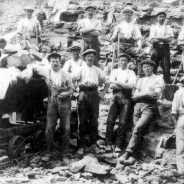 Harbury.  Quarry workers