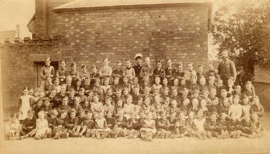 Group photograph dated 1880. Wight School, High Street, Harbury. |  IMAGE LOCATION: (Warwickshire Museums. Photographic Collections.)