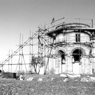Chesterton.  Windmill undergoing restoration