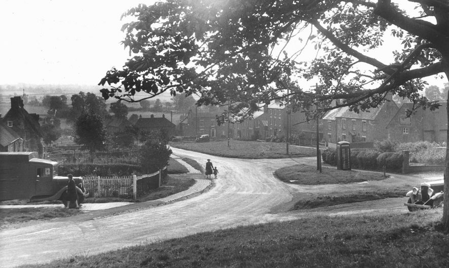 The Green, Napton on the Hill, showing a lorry in the foreground.  1950s |  IMAGE LOCATION: (Warwickshire County Record Office)