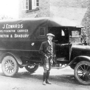 Bishops Itchington.  Carrier's van