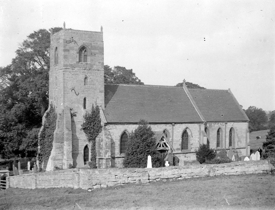 Exterior view of St Giles church, Bubbenhall.  1926 |  IMAGE LOCATION: (Warwickshire County Record Office)