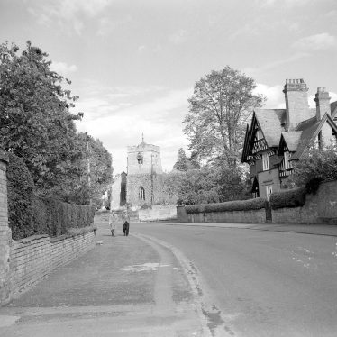 Barford.  St Peter's church and rectory