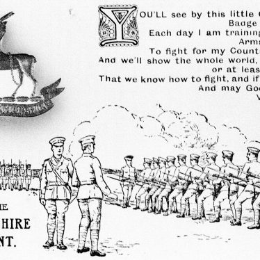 Warwickshire unspecified.  Warwicks Regiment Postcard