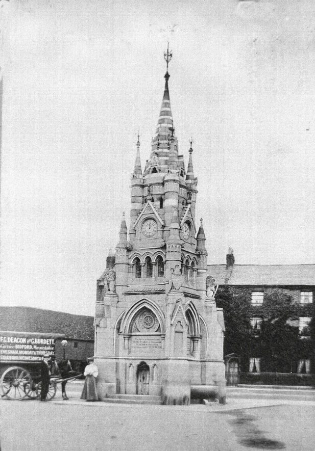 The American Fountain, Stratford upon Avon.  1900s |  IMAGE LOCATION: (Warwickshire County Record Office)