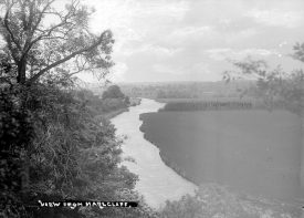 View of the River Avon from Marlcliff.  1950s |  IMAGE LOCATION: (Warwickshire County Record Office)