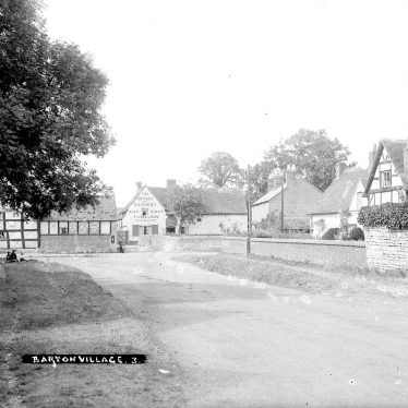 Barton.  Village street and Cottage of Content