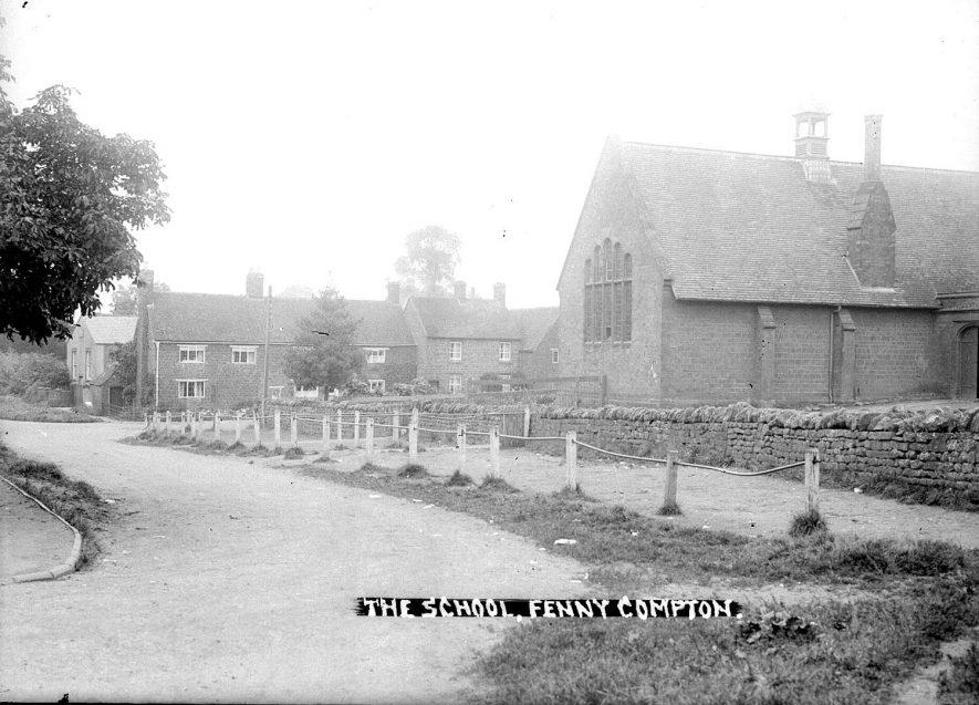 Fenny Compton school exterior.  1930s |  IMAGE LOCATION: (Warwickshire County Record Office)