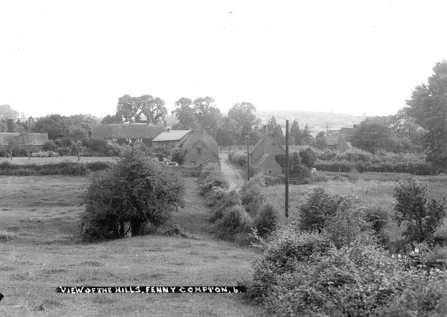 Fenny Compton view of the hills.  1930s |  IMAGE LOCATION: (Warwickshire County Record Office)