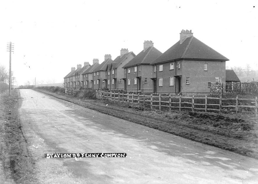 Fenny Compton houses in Station Road.  1930s |  IMAGE LOCATION: (Warwickshire County Record Office)