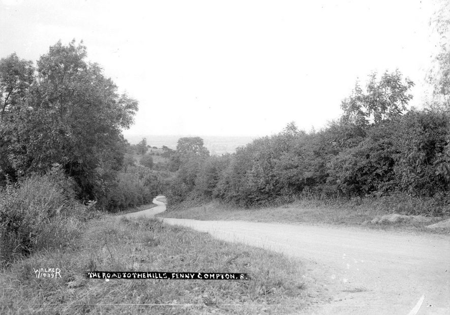 Fenny Compton road to the hills.  1930s |  IMAGE LOCATION: (Warwickshire County Record Office)