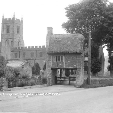 Long Compton.  Church and lych gate