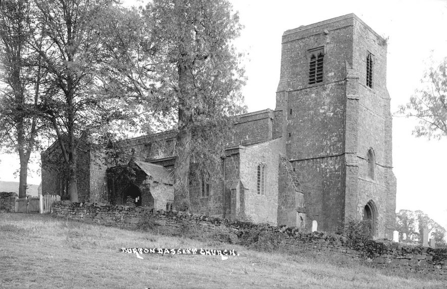 Exterior of All Saints Church, Burton Dassett.  1930s |  IMAGE LOCATION: (Warwickshire County Record Office)