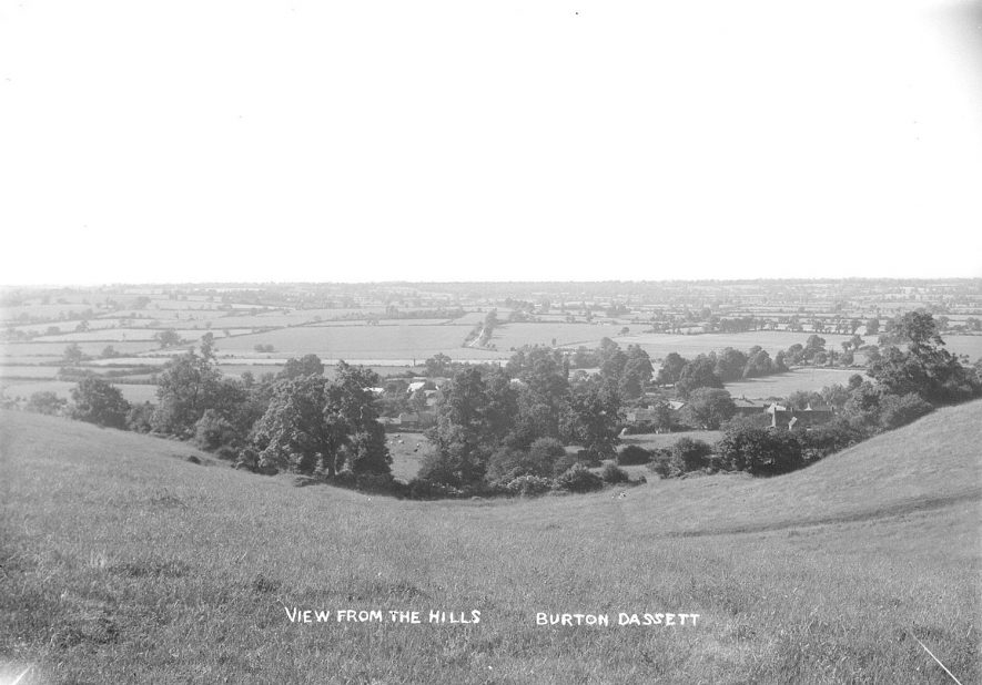 Burton Dassett, view from the hills.  1930s |  IMAGE LOCATION: (Warwickshire County Record Office)
