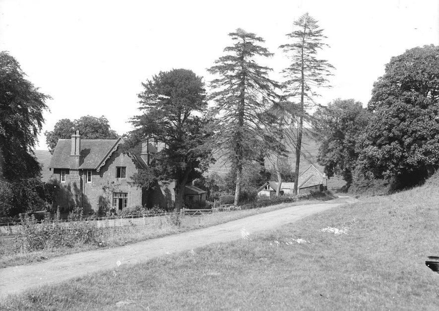 Probably Burton Dassett vicarage.  1930s |  IMAGE LOCATION: (Warwickshire County Record Office)