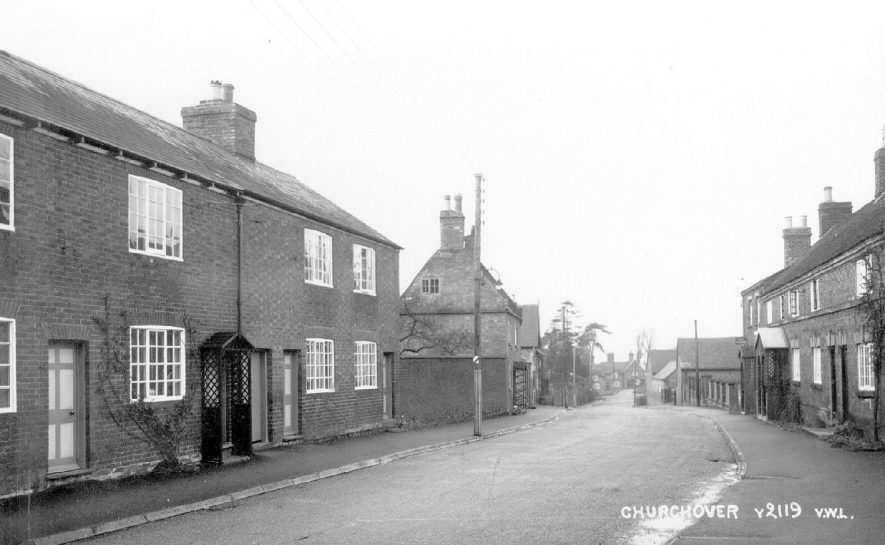 Part of village street, Churchover.  1940s |  IMAGE LOCATION: (Warwickshire County Record Office)