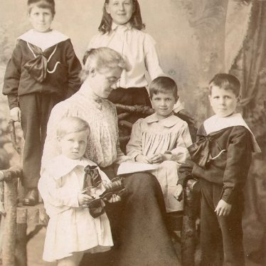 Harbury.  Eleanor Archer with her stepfamily