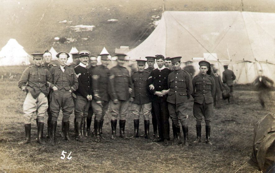 Warwickshire Yeomanry at Bulford Camp, near Amesbury, Salisbury Plain.  1913 |  IMAGE LOCATION: (Warwickshire County Record Office)