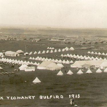 Warwick Yeomanry.  Bulford Camp