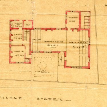Brailes, Lower.  Plan of school