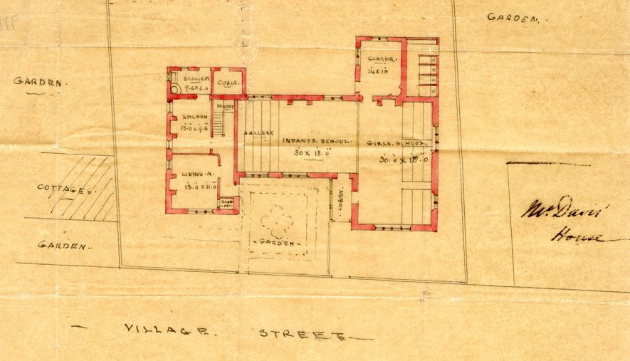 Plan of Brailes Schools. 1879. |  IMAGE LOCATION: (Warwickshire County Record Office)