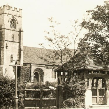 Beaudesert.  St Nicholas' Church and Lych Gate