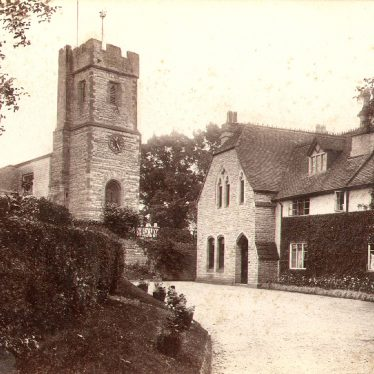 Bidford on Avon.  Church and vicarage
